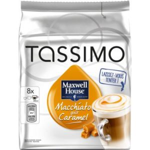 Kraft 8 dosettes T-Discs Maxwell House Macchiato goût caramel