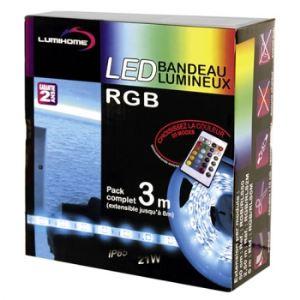 3M Pack Strip Led Rgb avec télécommande (3 m)