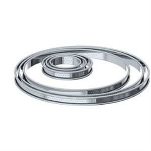 De Buyer Cercle à tarte Bords Roule Perfore en inox (8 cm)
