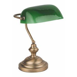 Faro Lampe de bureau Banker-2 en métal et verre 60 W