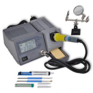 VidaXL 140771 - Station de soudage numérique 48W avec accessoires