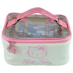 Euro Media Vanity de maquillage Hello Kitty - 14 pièces de cosmétiques