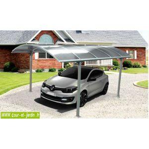 Foresta CAR 3048 ALRP - Carport alu à toit polycarbonate rond