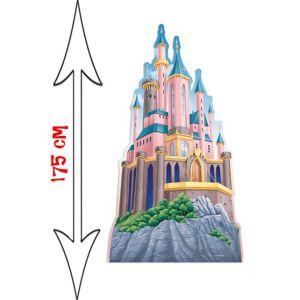 Figurine géante en carton le Château Princesse Disney (175 cm)