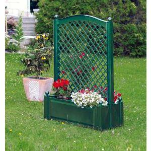 KHW 37103 - Jardinière rectangulaire avec treillage au milieu 100 x 43 x 140 cm