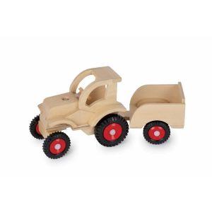 Legler Maxime - Tracteur avec remorque en bois naturel