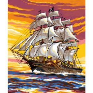 Oz international Peinture au numéro -  Débutants : Le bateau pirate