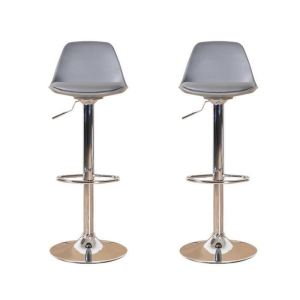 tabouret de bar gris avec dossier comparer 107 offres. Black Bedroom Furniture Sets. Home Design Ideas