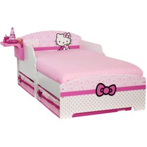 Big Red Warehouse Lit avec tiroirs de rangement Hello Kitty (70 x 140 cm)