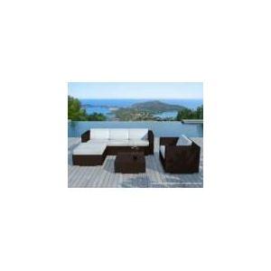 Delorm Design SD8201 - Salon de jardin Amalys en résine tressée