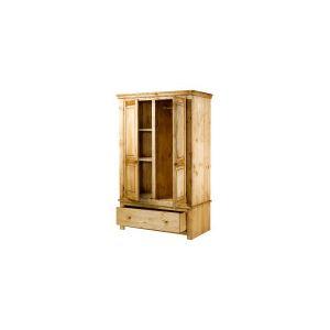 Armoire Brush  2 portes et 1 tiroir en pin