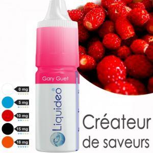 Liquideo Gary Guet - E-liquide goût acidulé pour E-cigarette rechargeable (avec ou sans nicotine) 10ml