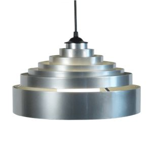 Tosel Piramido - Suspension réglable en métal 6 anneaux en pyramide Ø30 cm