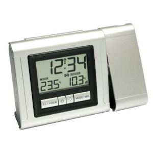 Wetterladen 60.5006.54.IT - Réveil radio-piloté à projection avec affichage de la température
