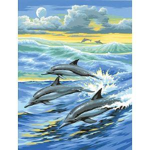 Oz international Peinture au numéro : Dauphins