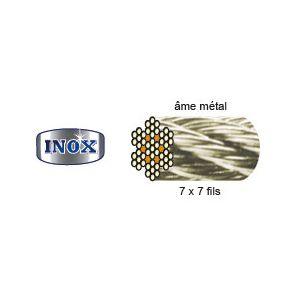 Vigouroux 250110 - Câble acier inox 7 torons x 7 fils Ø 10mm 25m