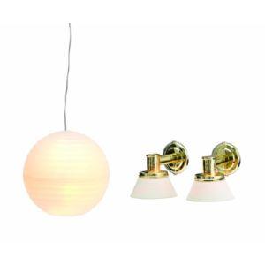 Lundby Kit éclairage : Globe + 2 appliques Smaland pour maison de poupée (L606037)
