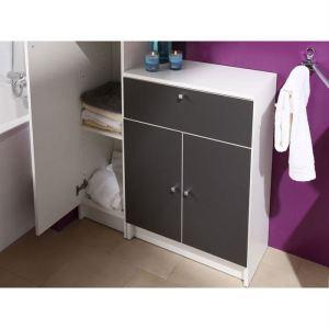 Image de Meuble bas de salle de bain 2 portes et 1 tiroir Marbella 5