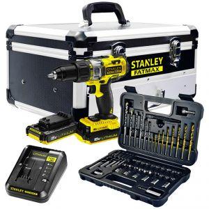 Stanley FMCK625D2F - Perceuse à percussion Fatmax 2 batteries 18V + Coffret d'accessoires dans une mallette metal