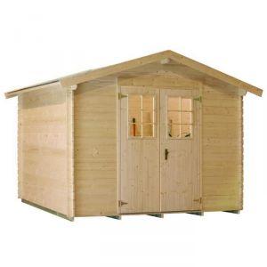 Luoman LV 141 - Abri de jardin en bois 4,51 m² 19 mm