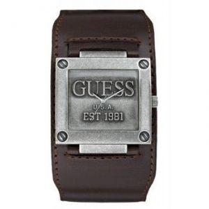 Guess W0418G - Montre pour homme avec bracelet en cuir