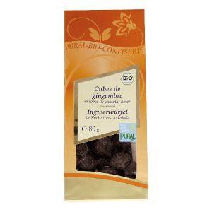 Pural Cubes Gingembre Chocolat Bio 80 g