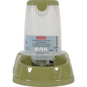 Zolux Distributeur de croquettes antidérapant vert pastel - 6,5 kg