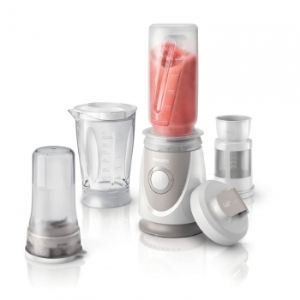 Philips HR2874/00 - Mini-blender 0,6 L avec mini-hachoir Daily Collection