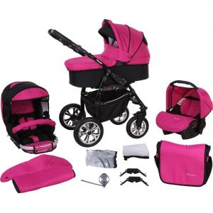 Milk Rock Baby Macano châssis noir - Poussette canne combinée avec nacelle et siège auto groupe 0+