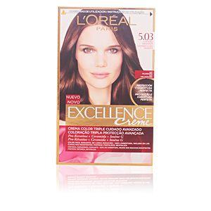 L'Oréal Excellence 5.03 Châtain Radiant - Crème colorante triple protection