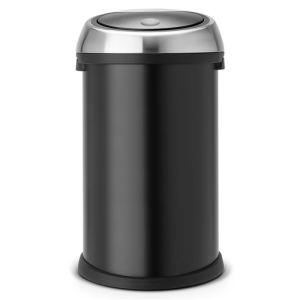 Brabantia poubelle touch bin avec couvercle plastique 50 for Habitat poubelle cuisine