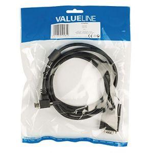 Valueline VLCP59050B20 - Câble VGA Mâle angle de 90° 2 m