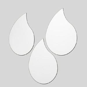 Ideko 3 miroirs gouttes avec adhésifs