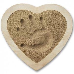 Kit souvenir Sand Memories empreinte de main avec cadre coeur