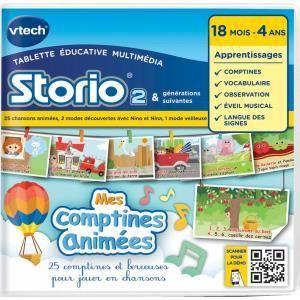 Vtech Jeu tablette Storio : Mes comptines animées avec Nino et Nina