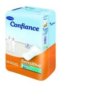 Hartmann Confiance Sensitive - Protection anatomique absorption (2 paquet 14 protections)