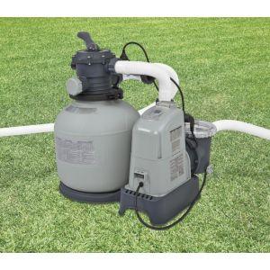 Intex 28680 - Combiné filtre à sable 8 m3/h + écostérilisateur + OEC