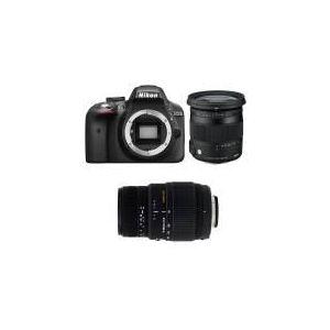 Nikon D3300 (avec 2 objectifs Sigma 17-70 et Sigma 70-300m)