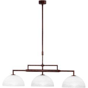 Honsel 60703 - Lampe suspension Arena en métal vieilli/verre