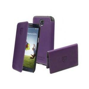 Cremieux CRPAK0018 - Étui à clapet Folio Violet + Porte-Cartes pour Samsung Galaxy S4 I9500