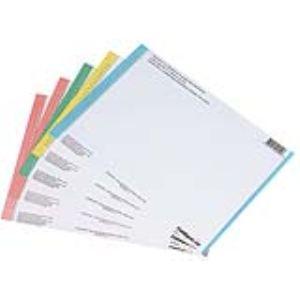 L'Oblique AZ Sachet de 10 planches d'étiquettes n° 8 pour dossiers suspendus pour armoire