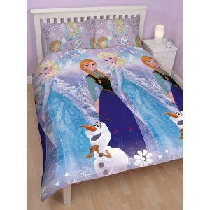 Cti La Reine des Neiges Elsa & Anna - Housse de couette et 2 taies (200 x 200 cm)