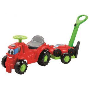 Ecoiffier EC-350 - Tracteur porteur remorque avec tondeuse