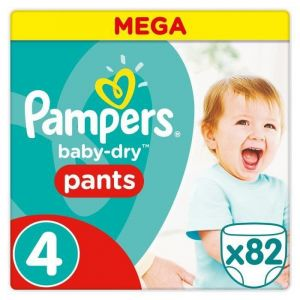 Pampers Baby-Dry Pants taille 4 (8-14 kg) - 82 couches-culottes