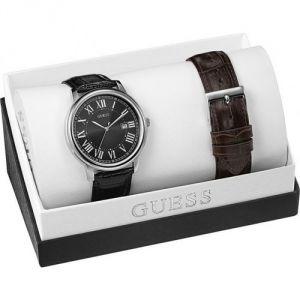Guess W0384G2 - Coffret montre pour homme avec 2 bracelets en cuir