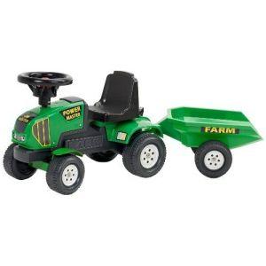 Falk Porteur Baby Tracteur Power Master avec remorque