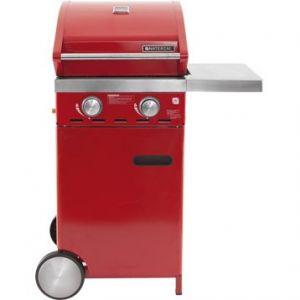 Naterial Florida - Barbecue gaz four + gril fonte 2 brûleurs sur chariot