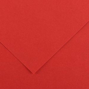 Canson 200040396 - Feuille Iris Vivaldi 50x65 240g/m², coloris rouge 15