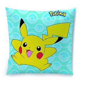 Cti Coussin Pokémon Pikachu en coton (40 x 40 cm)