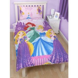Princesses Disney - Housse de couette et taie 100% microfibre  (135 x 200 cm)